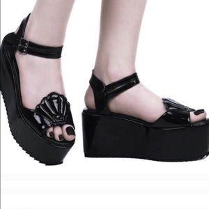 Killstar Shell Siren Mermaid platform shoes